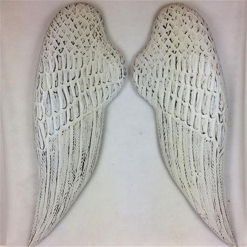 Angel Wings Large s/2 Whitewash  32cm x 100cm