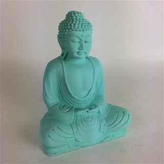 Matte Buddha Mint Green 20cm high