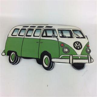 VW Combi Side Wall Art Green 59cm x 32cm high