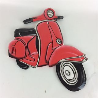 Vespa Wall Art Red 41cm x 46cm high