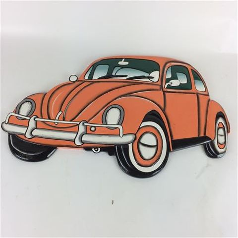 VW Beetle Wall Art Orange 60cm x 36cm high