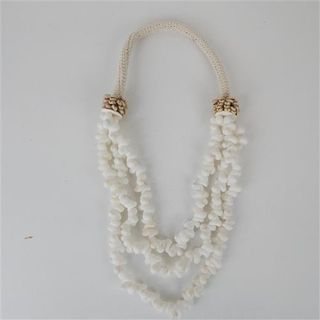 Coma Shell  Strand Shell Necklace White 50cm long