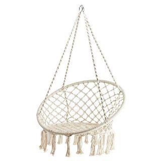 Macrame Hanging Chair Cream 80cm dia
