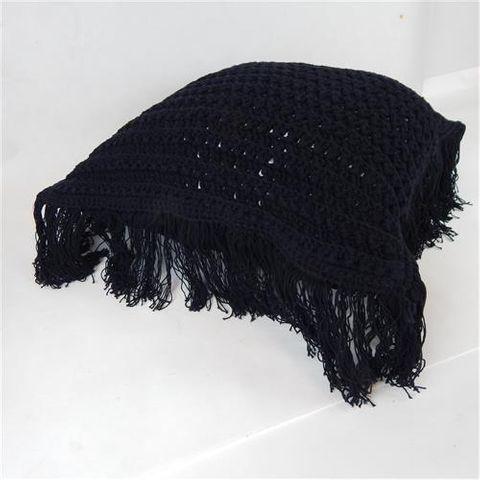 Macrame Cushion Cover Black 50cm x 50cm