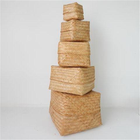 Lira Boxes s/5 Natural 30 / 25 / 20 / 17 / 11cm2