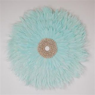 Plume Feather Circle Pale Aqua 60cm