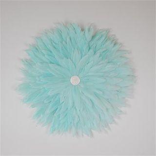 Plume Feather Circle Pale Aqua 40cm