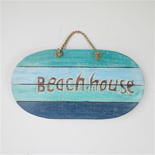 Beach House Oval Blues 38cm x 20cm high