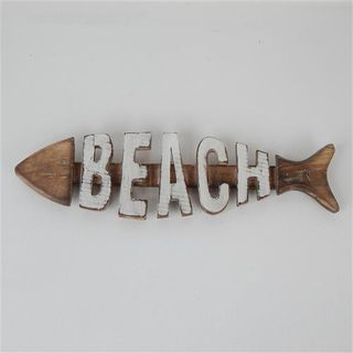 Fish Beach Whitewash 43cm x 13cm high