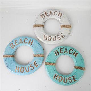 Beach House Rings s/3 White/Blue/Green 24cm dia