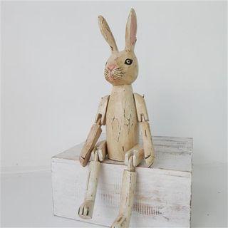 Vintage Rabbit Antiqued 25cm high