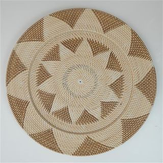 Lombok Deco Plate Brown/Natural 60cm dia