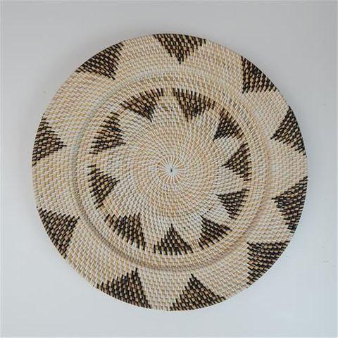 Lombok Deco Flower Plate Black/White 50cm