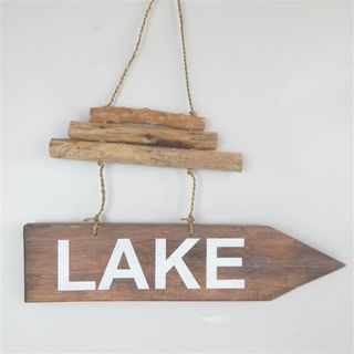 Driftwood Arrow LAKE 40cm x 22cm high