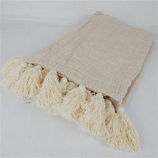 Loom Throw White 140cm x 240cm