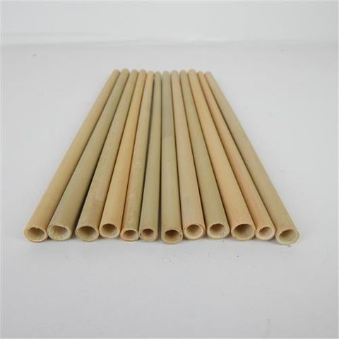 Bamboo Straws 25cm long 12pcs