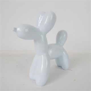 Resin Balloon Dog White 20cm x 7cm x 21cm high