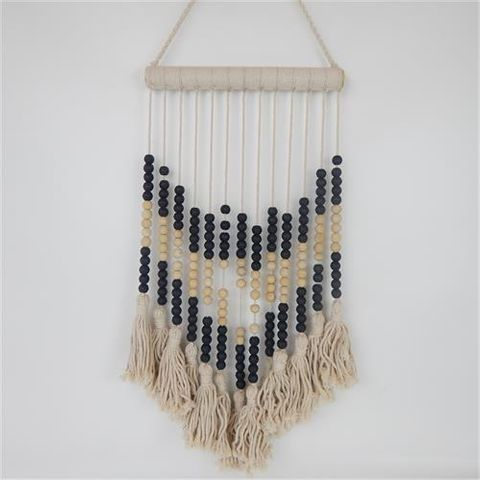Tassel Hanging Small Nat/Black 30cm x 60cm long