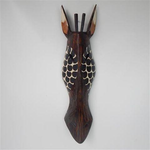 Zulu Mask Medium Hexagon Black 16cm x 60cm high