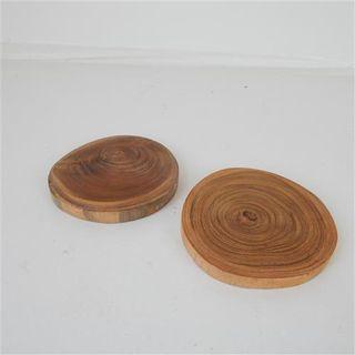 Teak Coasters s/2 10cm dia