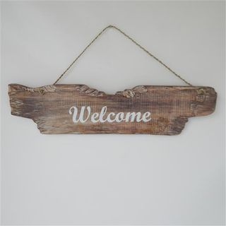 Drift Welcome Sign Whitewash 12cm x 48cm