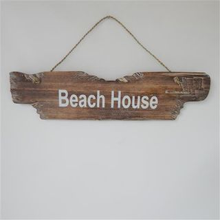 Drift Beach House Sign Whitewash 12cm x 48cm wide