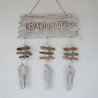Drift Beach House Hanging w Jandal Whitewash 40cm x 45cm