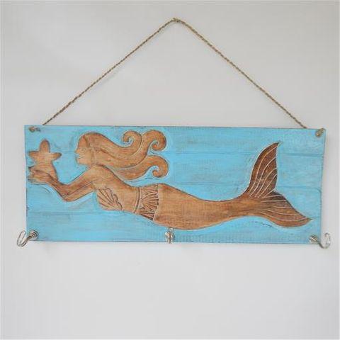 Mermaid Hook Sea Green/Natural 50cm x 20cm high