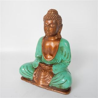 Rina Buddha Teal 20cm high