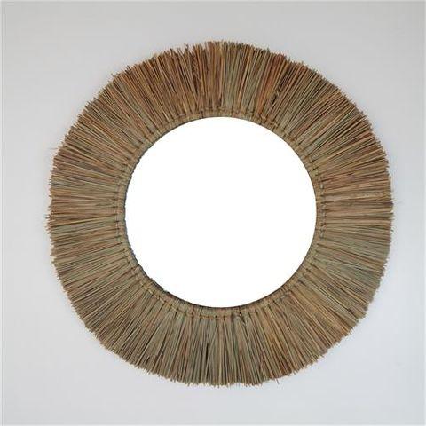 Panang Grass Mirror Natural 60cm dia / Mirror 33cm