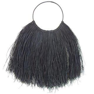 Panang Fringe Wall Necklace Black 70cm x 80cm