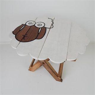 Sheep Table Small Whitewash 36cm x 31cm x 31cm high