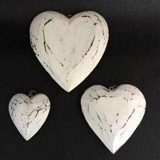 Menya Hearts s/3 Whitewash 10cm / 15cm / 20cm dia