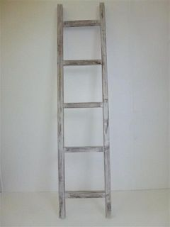 Wooden Ladder Whitewash 35cm x 160cm