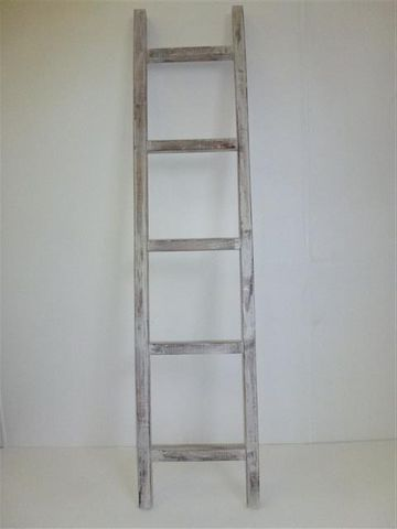 Wooden Ladder Whitewash 35cm x 160cm