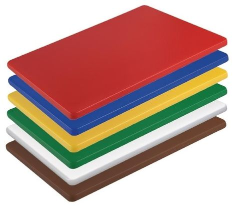 POLY CHOPPING BOARD RED 530X325X20mm