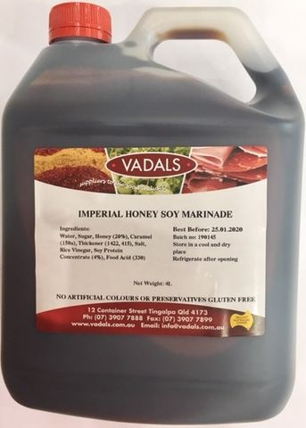 MARINADE IMPERIAL HONEY SOY VADALS 4L