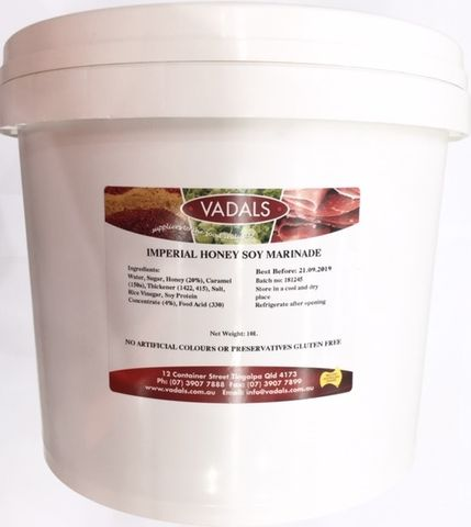 MARINADE IMPERIAL HONEY SOY VADALS 10L