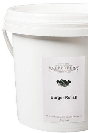 BEERB BURGER RELISH 2kg Bucket MOQ3