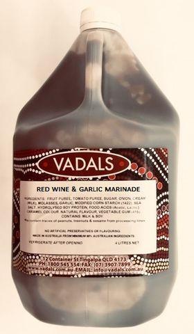 MARINADE RED WINE & GARLIC VADALS4L/4.7K