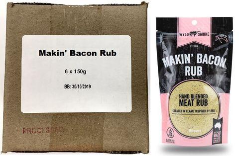 WYLD SMOKE G/F MAKIN BACON (6X150g) pk