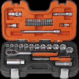Bahco Socket Set 1/4-3/8 Dr 34pcs