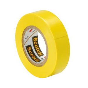 Electrical Tape Yellow 18mm x 20m