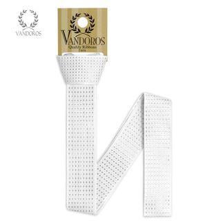 HANGSELL - VENEZIA WHITE/SILVER 25mmX2M