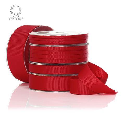 MONO GROSGRAIN SPICE RED