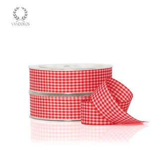 ZH011-C003 RED GINGHAM 25mmX25M