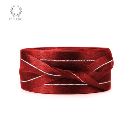 AN082-A001 RED SATIN FINE SILVER