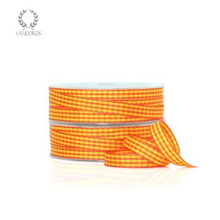CH-001-31/20 ORANGE/YELLOW GINGHAM 9MMX25M
