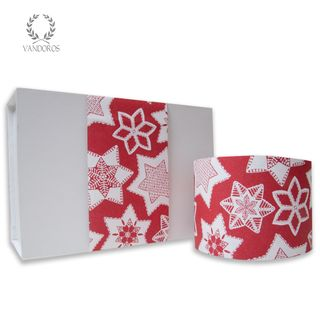 CHRISTMAS COOKIES UNCOATED SKINNY WRAP RED/WHITE 80gsm 10cmX60M