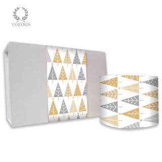 JOY IN CHRISTMAS UNCOATED SKINNY WRAP GOLD/SILVER 80gsm 10cmX60M